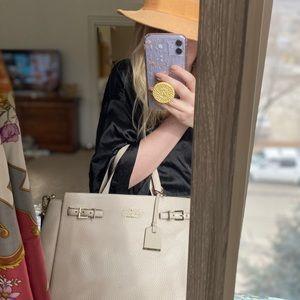 Kate Spade New York Beige structured bag